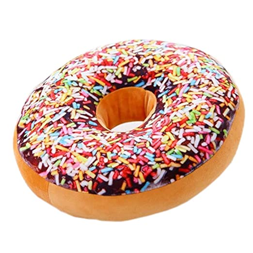 5 Cinco Donuts Chocolate almohada cojines: Amazon.es: Hogar