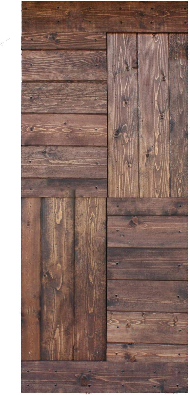 Amazon Com 36in X 84in S Series Diy Knotty Pine Wood Interior Sliding Barn Door Slab Classic Walnut Door Only Home Improvement