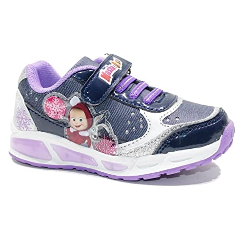 Scarpe Bimba Bambina Ginnastica Masha E Orso Basket Strappo Sneakers Grigio iDnitlt