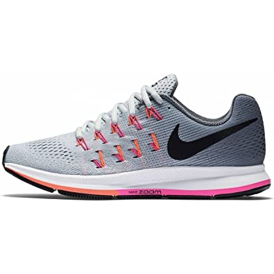 low priced d5dab 52f62 Nike Women s Air Zoom Pegasus 33 (Wide) Running Shoe  Platinum Black Grey Pink Blast Size 11 Wide US  Amazon.in  Shoes   Handbags
