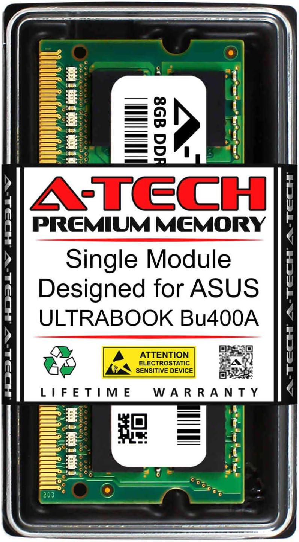 DDR3 1600MHz SODIMM PC3-12800 204-Pin Non-ECC Memory Upgrade Module A-Tech 8GB RAM for ASUS ULTRABOOK ULTRABOOK BU400A