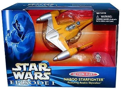 1 X Star Wars Episode I Action Fleet - Naboo Starfighter Featuring Anakin  Skywalker