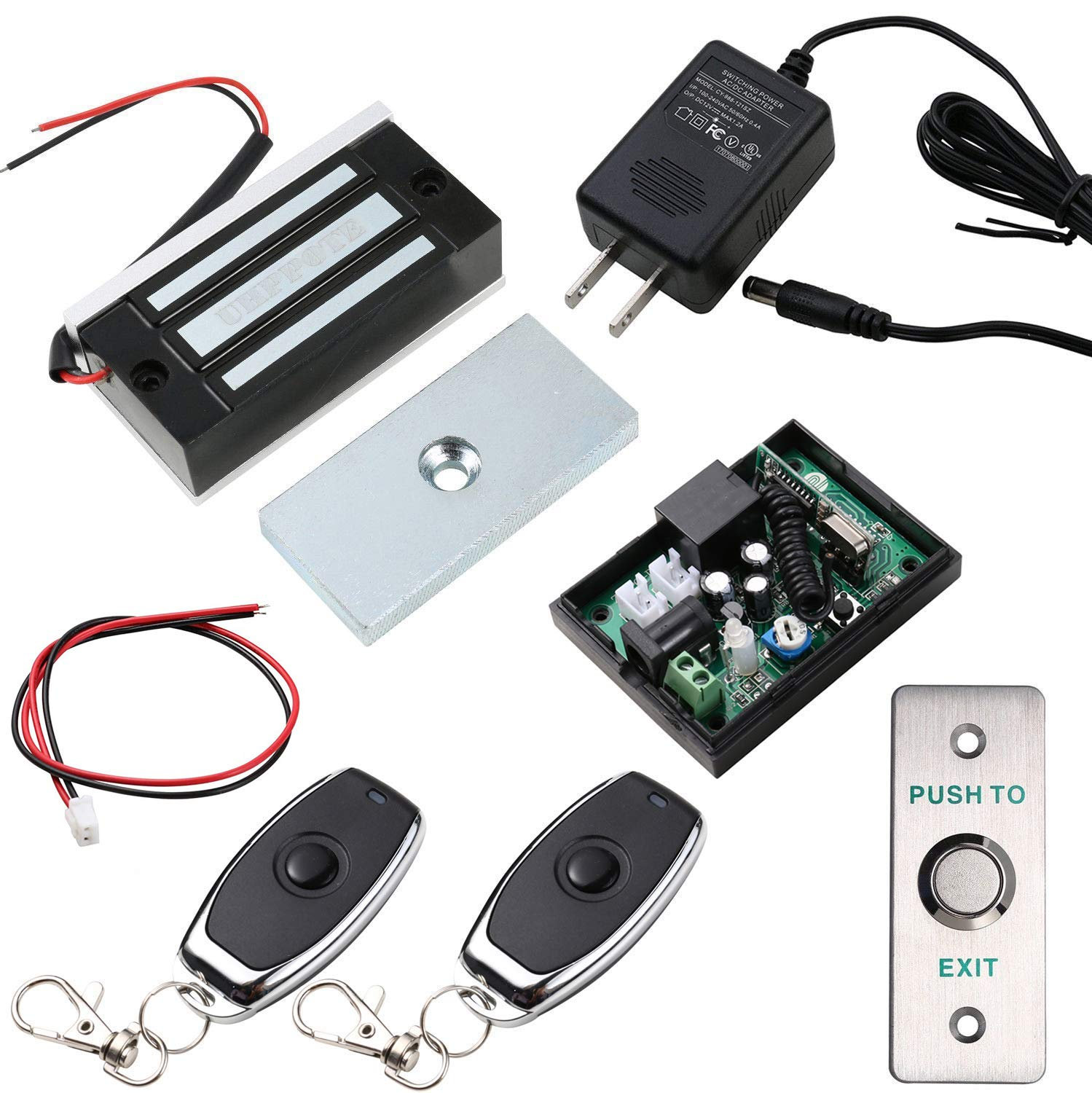 UHPPOTE Access Control System with 130lbs Force Electromagnetic Lock Remote  Exit Button