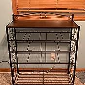 Household Essentials 8035-1 Wooden 5 Drawer Dresser | Storage Night Stand | Honey Maple