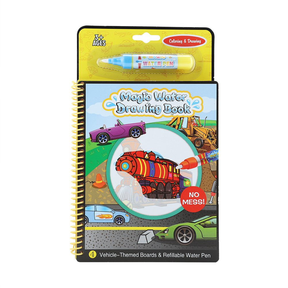 01 FTVOGUE Portable Magic Water Coloring Drawing Book Kids Children Painting Educational Toy Gift