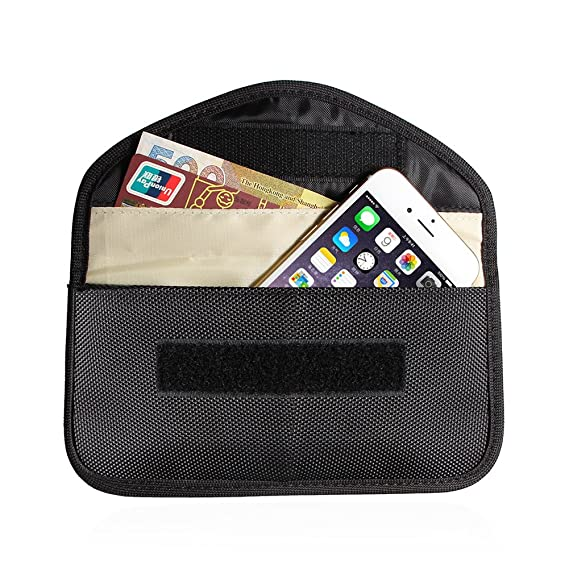 Portable Cell Phone Anti-tracking Anti-spying GPS Rfid Signal Blocker Pouch  Case Bag Handset Function Bag (Black)
