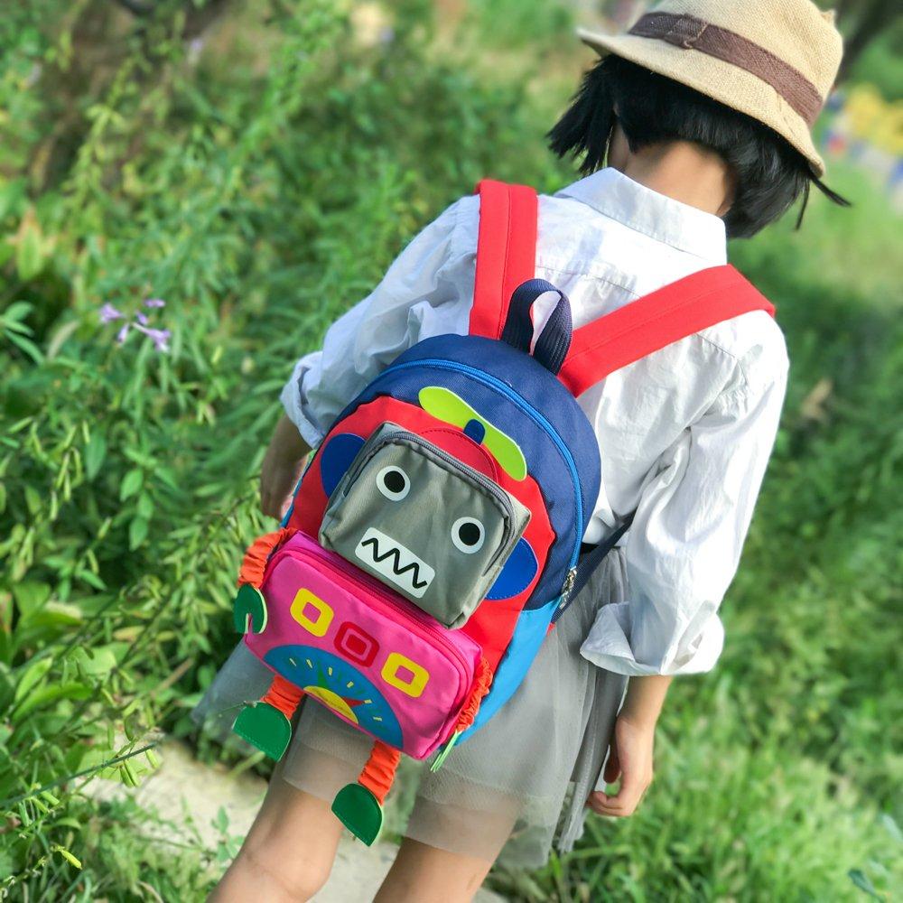 Kids Backpack Preschool Toddler Backpack 3D Robot Children Backpacks