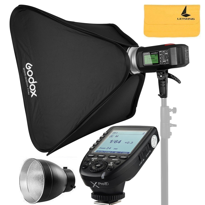 Godox AD600BM AD Sync 1 / 8000s 2.4G Wireless Flash Light Speedlite+GODOX XPro-F for Fuji DSLR Cameras,AD-R6,80cmX80cm /32''X32''Softbox