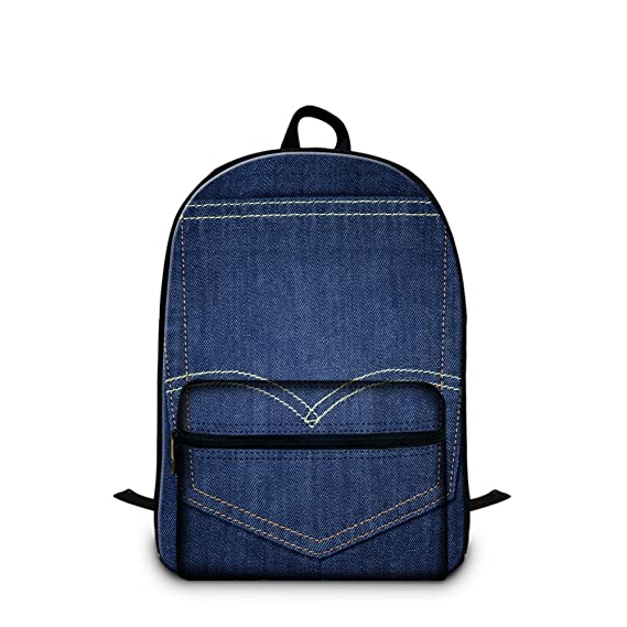 699599c7b626 Amazon.com: CrazyTravel Jeans Large School Book Bag Back pack For ...