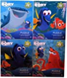 "Disney Pixar Finding Dory Set of 4 Puzzles 24 Pieces Nemo Hank the Octopus Marlin Destiny Shark 9.1"" x 10.3"" Ages 5+"