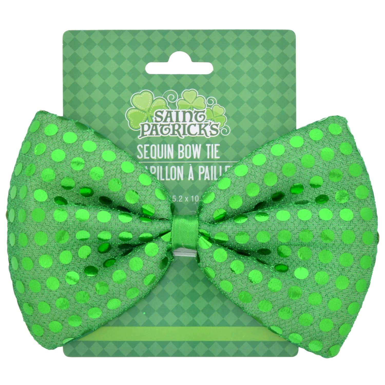 and Shamrock Light up Ring Green Onestone48 Sequined Bow Tie St Patricks Day Accessories Felt Hat with Belt Band