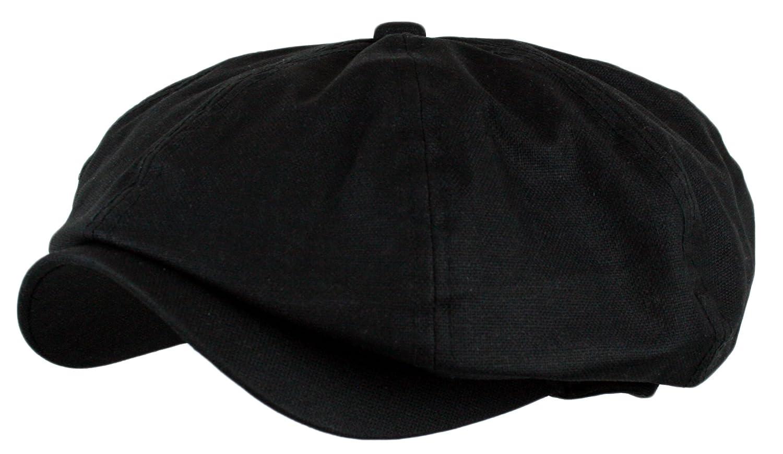 47ff1003c Wonderful Fashion Men's Linen 8 Panel Applejack Gatsby Ivy Hat (Black,One  Size)