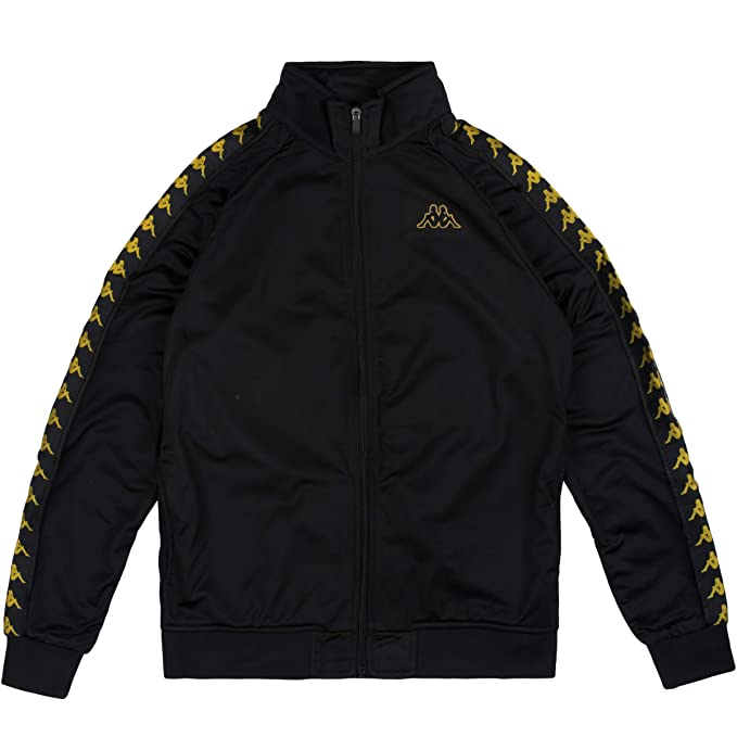 1e64c9d4de2 Kappa Men's Anniston 222 Banda Slim Fit Track Jacket, Black: Amazon ...