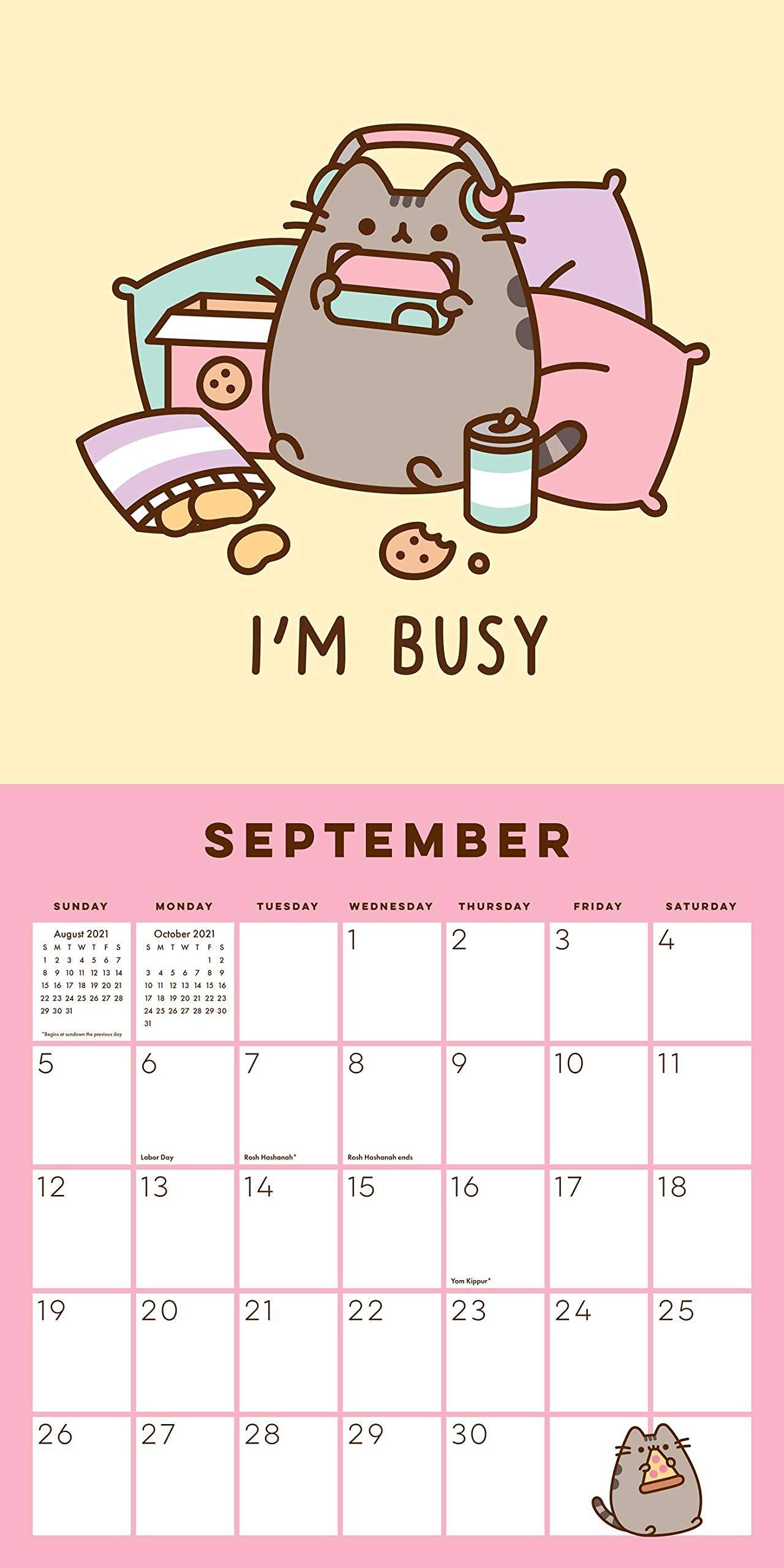 Pusheen 2021 Wall Calendar | Empty Calendar