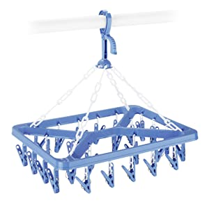 Whitmor Clip and Drip Hanger - Hanging Drying Rack - 26 Clips