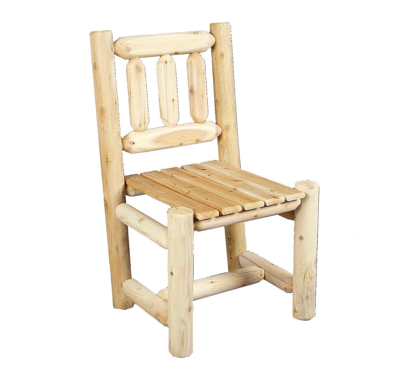 Amazon.com : Cedarlooks 0100003 Log Dining Chair : Patio Dining ...