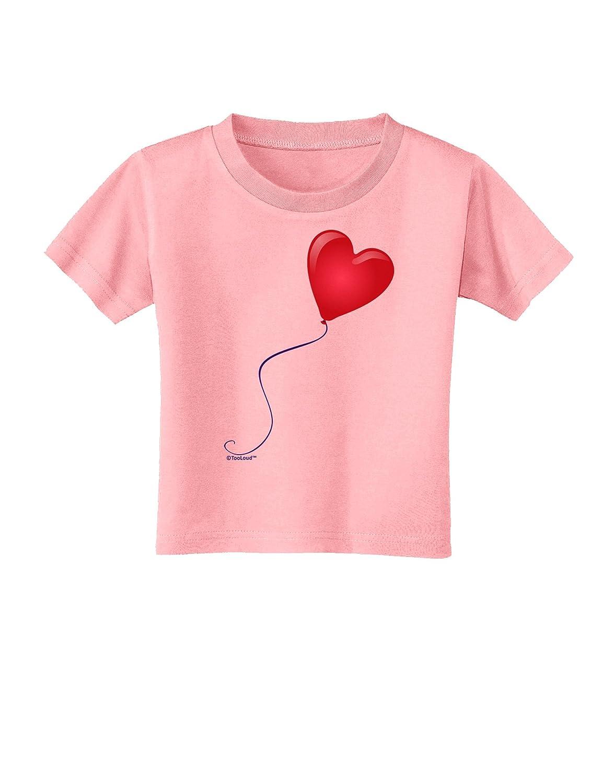 TooLoud Cute Red Heart Balloon Toddler T-Shirt