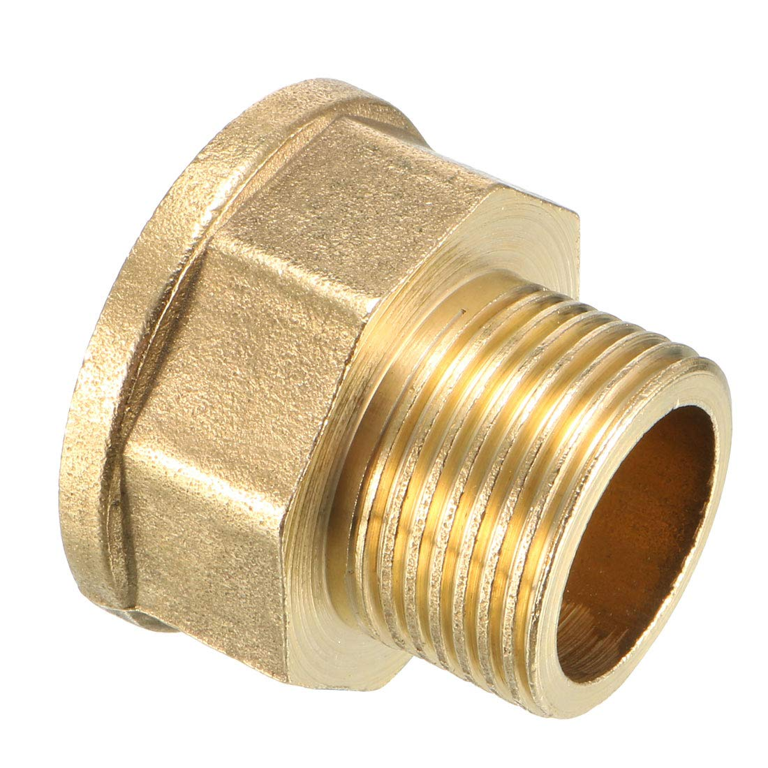 uxcell Brass Pipe Fitting 3//8 PT Male x 1//2 PT Female Coupling Adapter