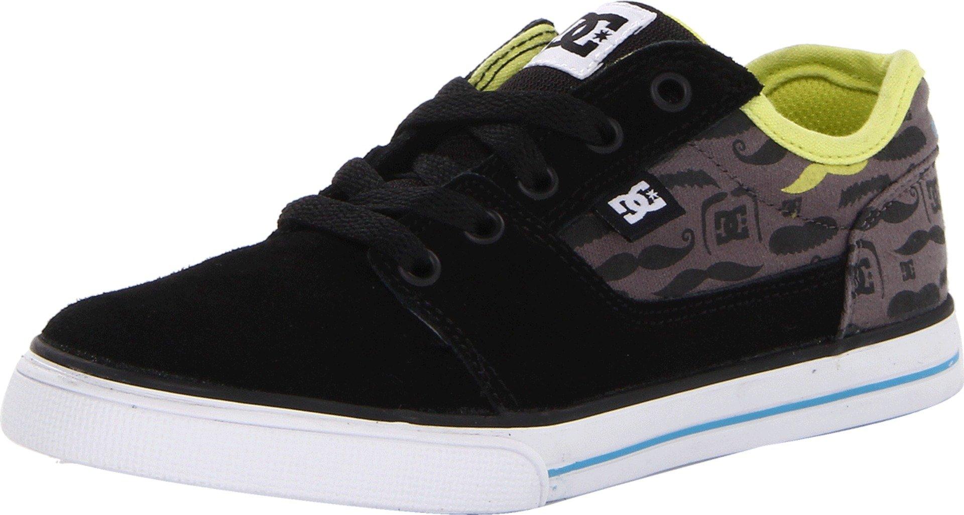 DC Bristol SE Skate Shoe (Little Kid/Big Kid),Black/Blue,4.5 M US Big Kid