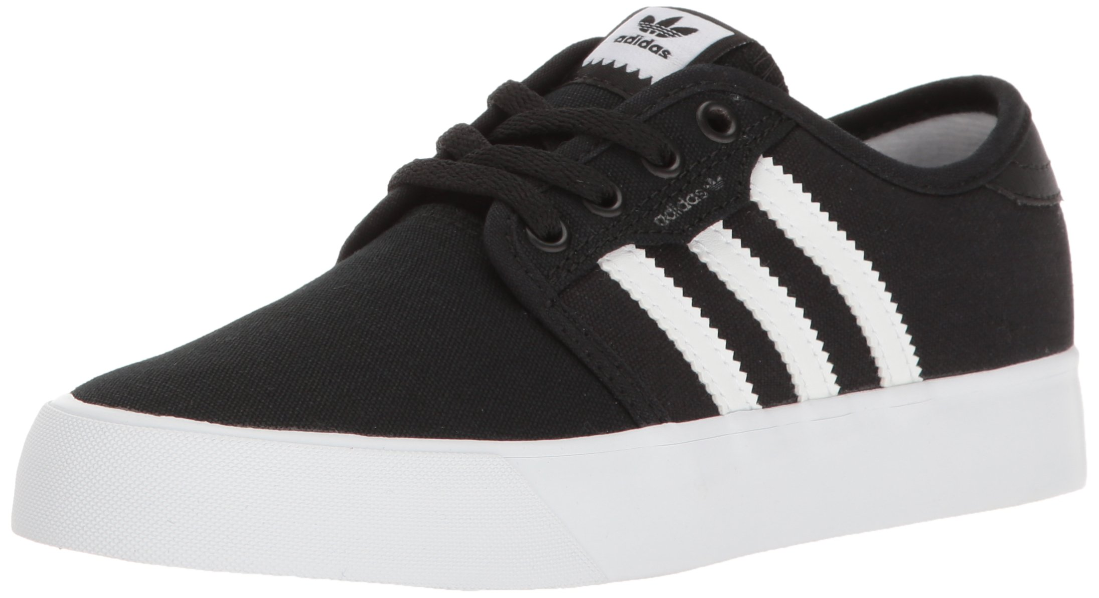 adidas Originals Unisex Seeley Running Shoe, Black White, 7 M US Big Kid