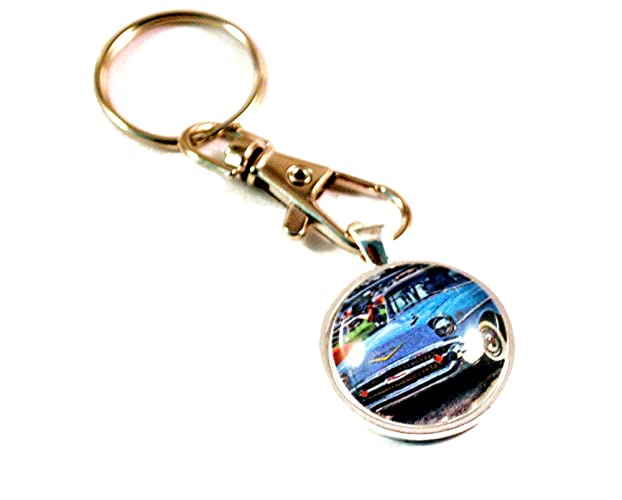 1957 Chevy Ad Photo Keychain 57' Chevy Gift Free Shipping Father's Day Gift