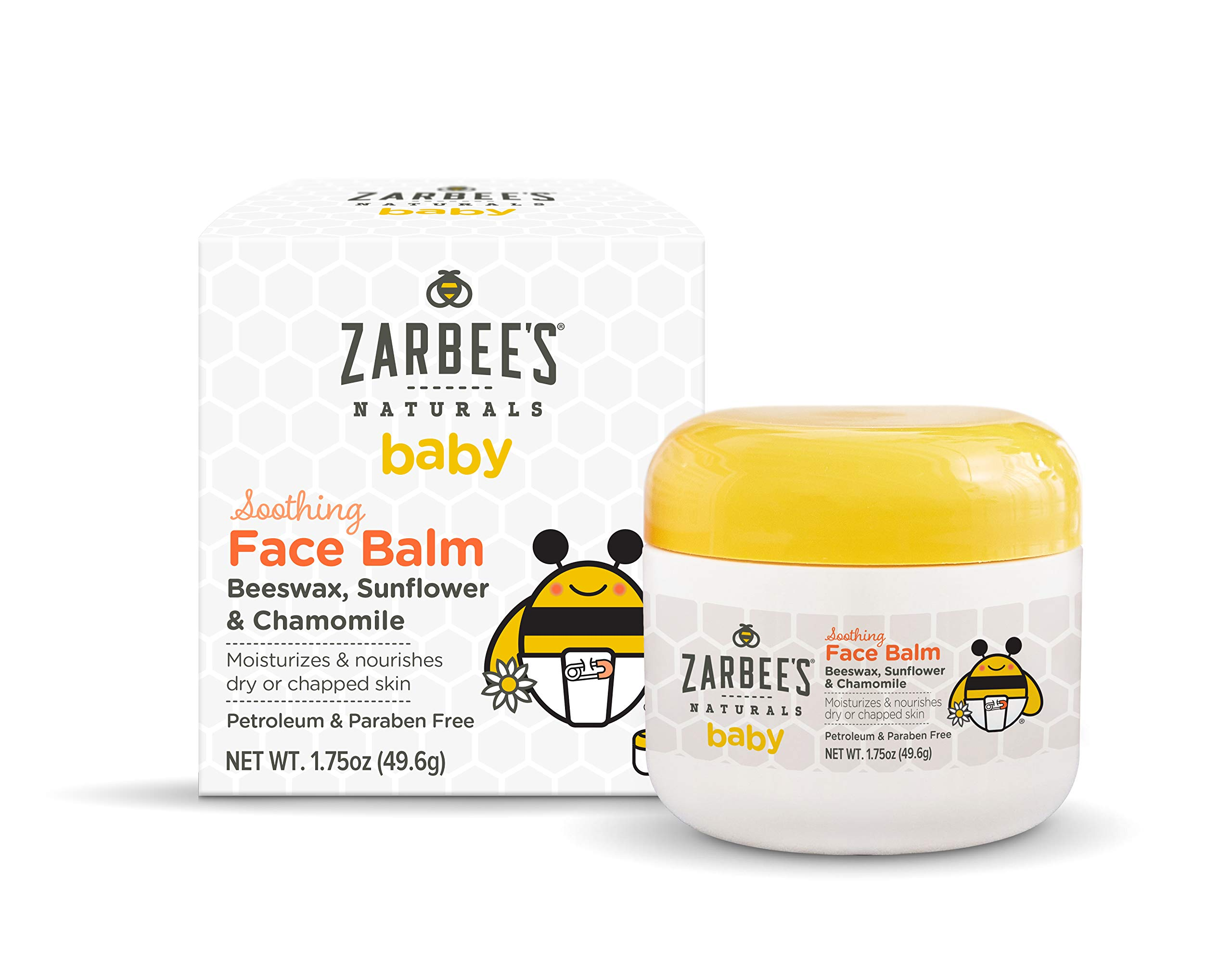 Zarbee's Naturals Baby Soothing Face Balm, 1.75 Ounces, with Beeswax, Sunflower & Chamomile by Zarbee's Naturals