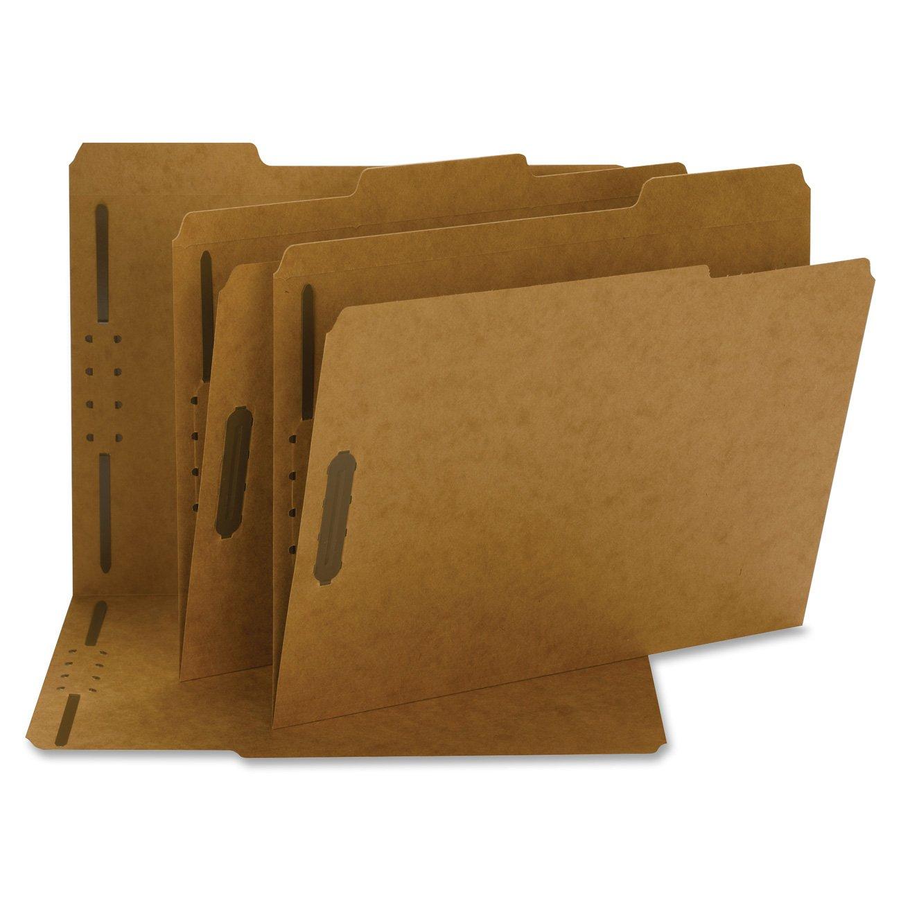 Smead Fastener File Folder, 2 Fasteners, Reinforced 1/3-Cut Tab, Letter Size, Kraft, 50 per Box (14837)
