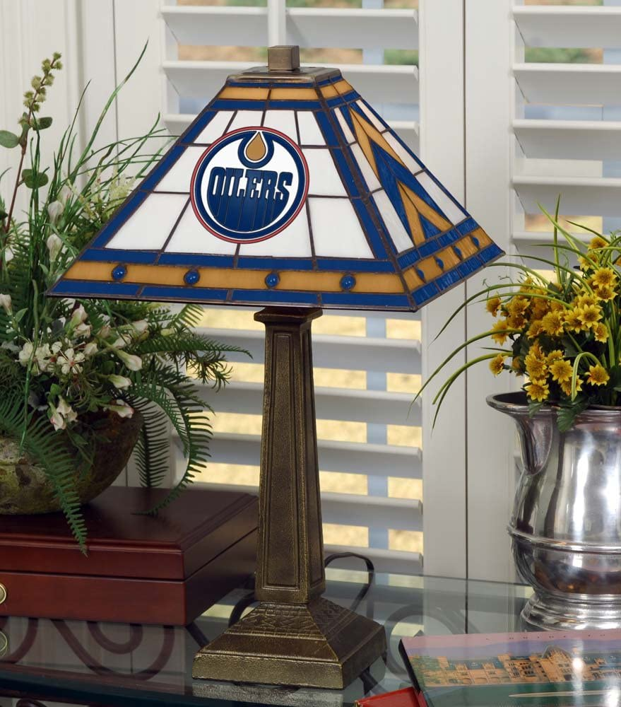 Multicolor NHL Edmonton Oilers 23in Mission Lamp One Size