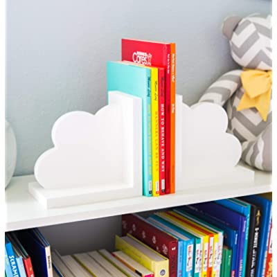 Cloud Bookends for Kids Room Baby Nursery Decor Bedroom Book End Clouds for Shelves - Decorations for Room or Nursery: Handmade