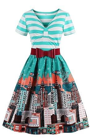 Babyonline® Elegant Damen Vintage 1950er Jahre Kleider Partykleider ...