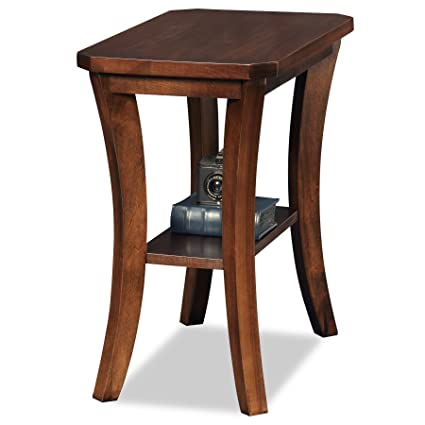 bd1e8f64f5149 Amazon.com  Leick Furniture Boa Collection Solid Wood Narrow Chairside End  Table  Kitchen   Dining
