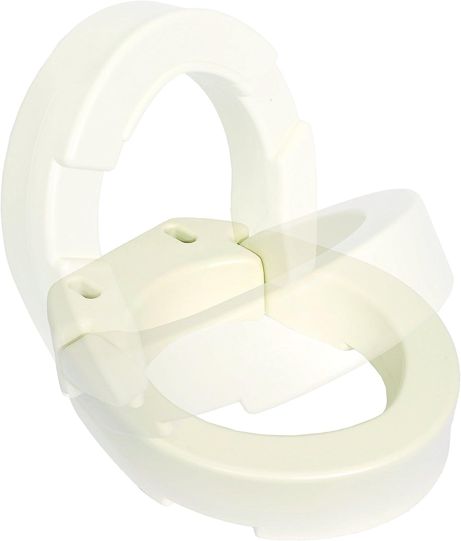 Essential Medical Supply B5085 Hinged Toilet Riser Elongated