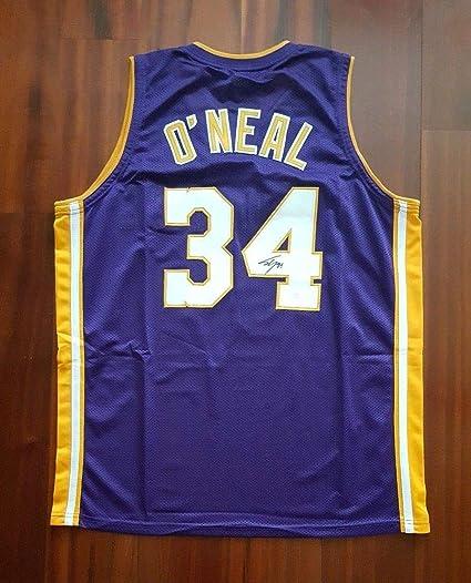 4b97e852d Shaquille O Neal Autographed Signed Memorabilia Jersey La Lakers JSA ...