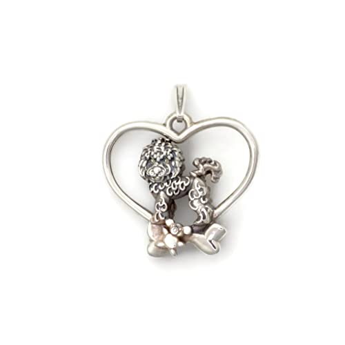 Donna Pizarro Designs Sterling Silver Bichon Frise Necklace rEQo4K5dd