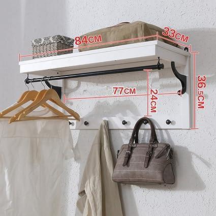 Perchero de pared,Gancho europeo dormitorio ropa ganchos salón estante-F