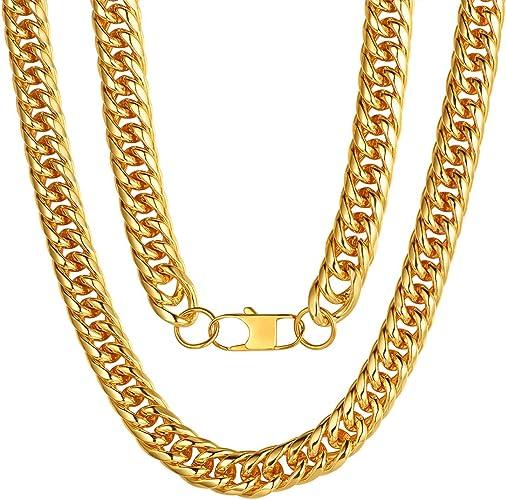 "Gorgeous 18/"" long 3 tone gold silver /& brown colour plaited chain necklace"