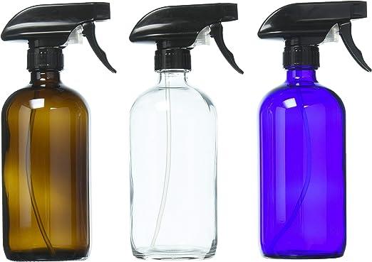 DII 16oz Cobalt Blue Glass Bottle Set// 2 With Labels
