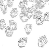 Dotters - Set di 150 cubetti di Ghiaccio Finti in plastica Trasparente, cubetti di Ghiaccio in Acrilico Trasparente, cubetti di Ghiaccio Finti per la Decorazione della casa, per Matrimoni
