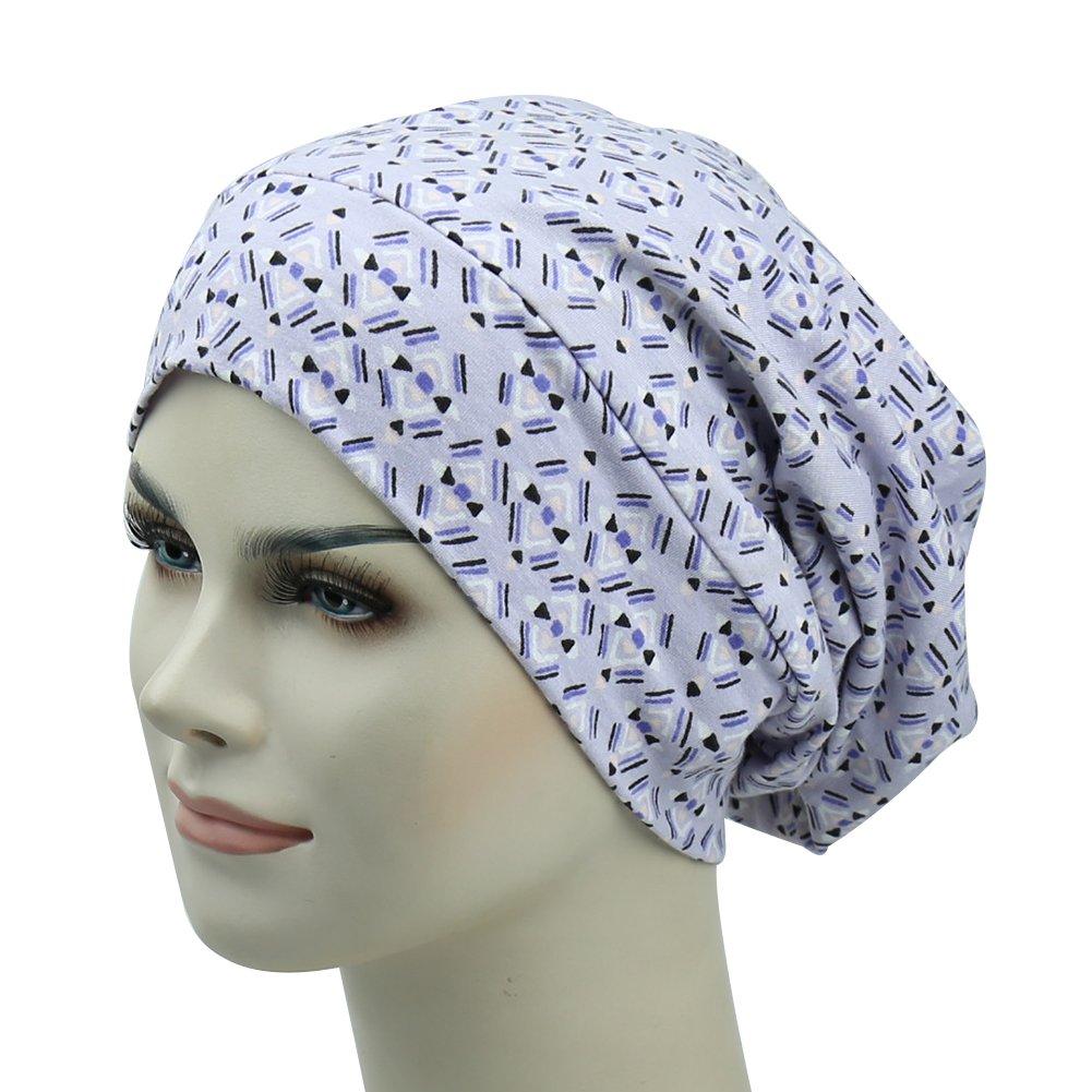 Frizzy Hair Sleep Cap Satin Slouchy Hat Curly Headwear No tight Headbands