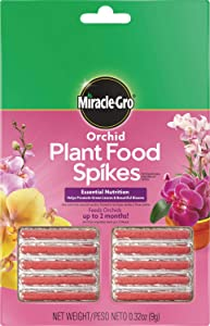 Miracle-Gro Orchid Plant Food Spikes, 24 Packs of 10 Spikes