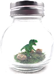 1 Inch Pet T-Rex Dinosaur Terrarium with Adoption Certificate