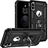ORIbox Ring Kickstand Phone Case for iPhone Xs MAX, Super Thin Mobile Phone Cover Case with Matte Finish Coating Grip