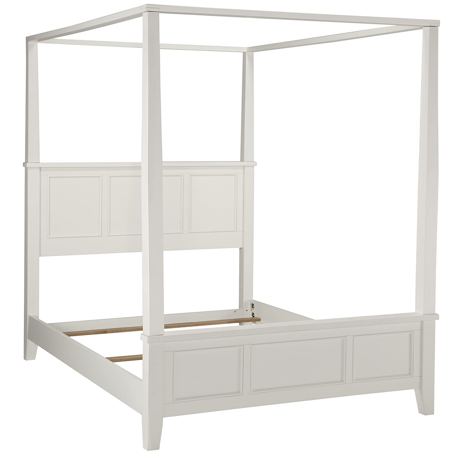 Amazon.com Home Styles Naples Canopy Bed King White Kitchen u0026 Dining  sc 1 st  Amazon.com & Amazon.com: Home Styles Naples Canopy Bed King White: Kitchen ...
