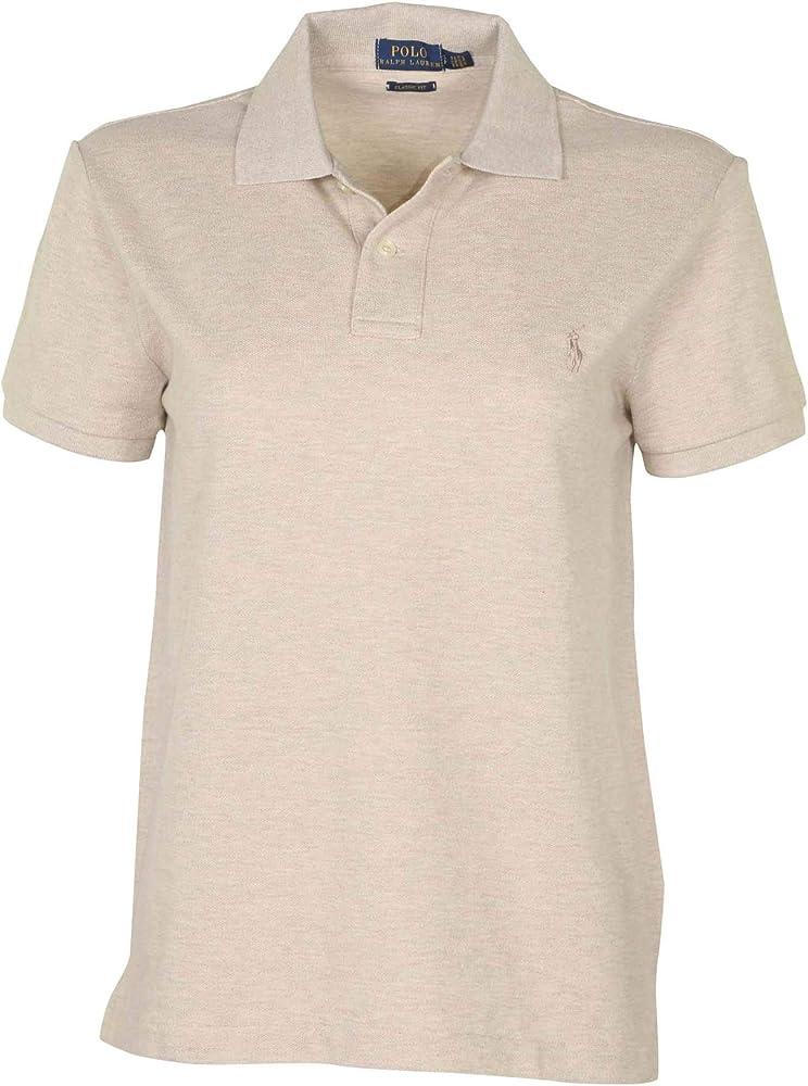 88aa8676 RALPH LAUREN Polo Womens Classic Fit Mesh Polo Shirt (X-Small, Dune Tan