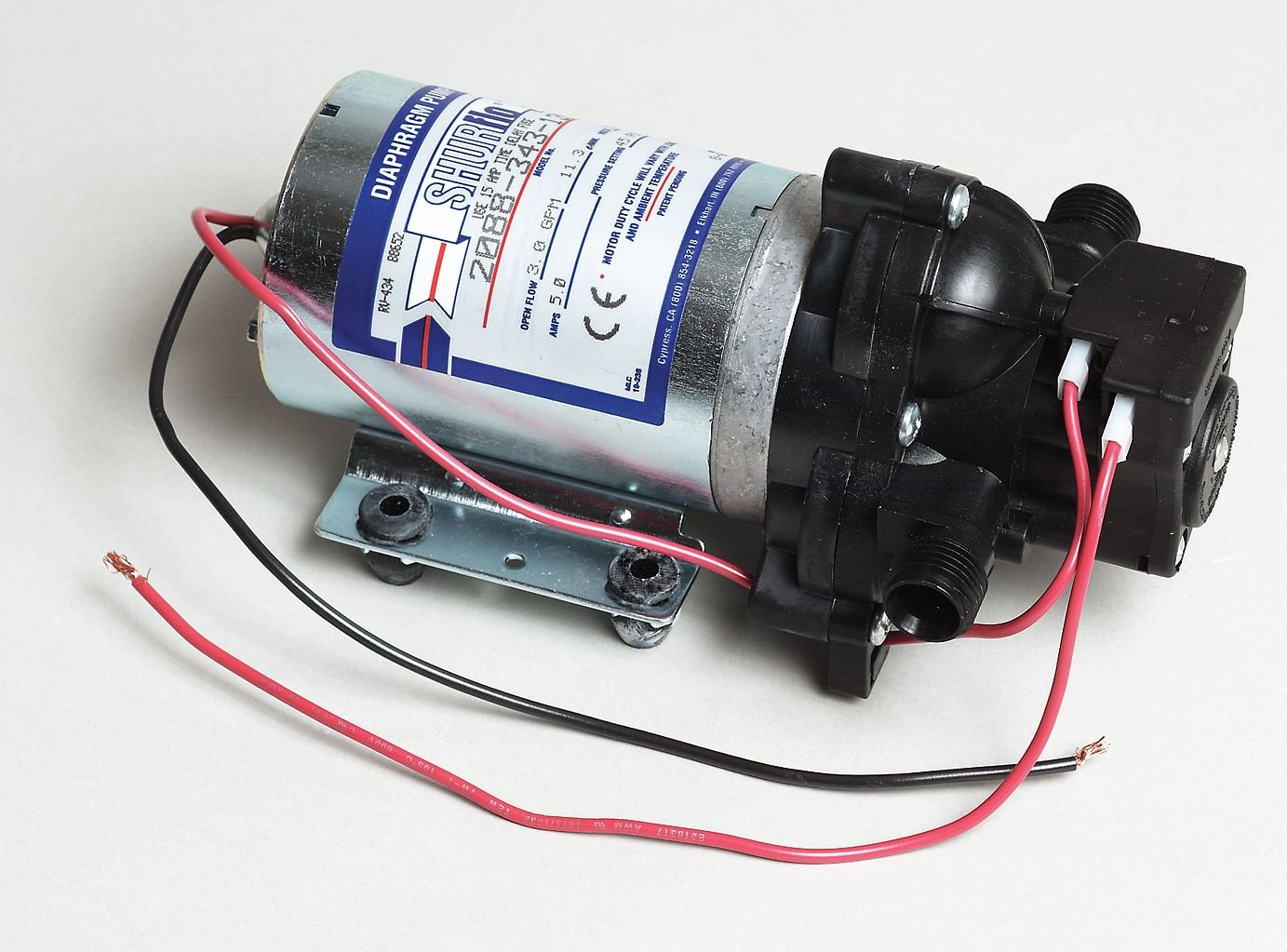 SHURflo Self-Priming 12 Volt Diaphragm Water Pump - 180 GPH, 1/2in. Ports, Model Number 2088-343-435 by Shurflo