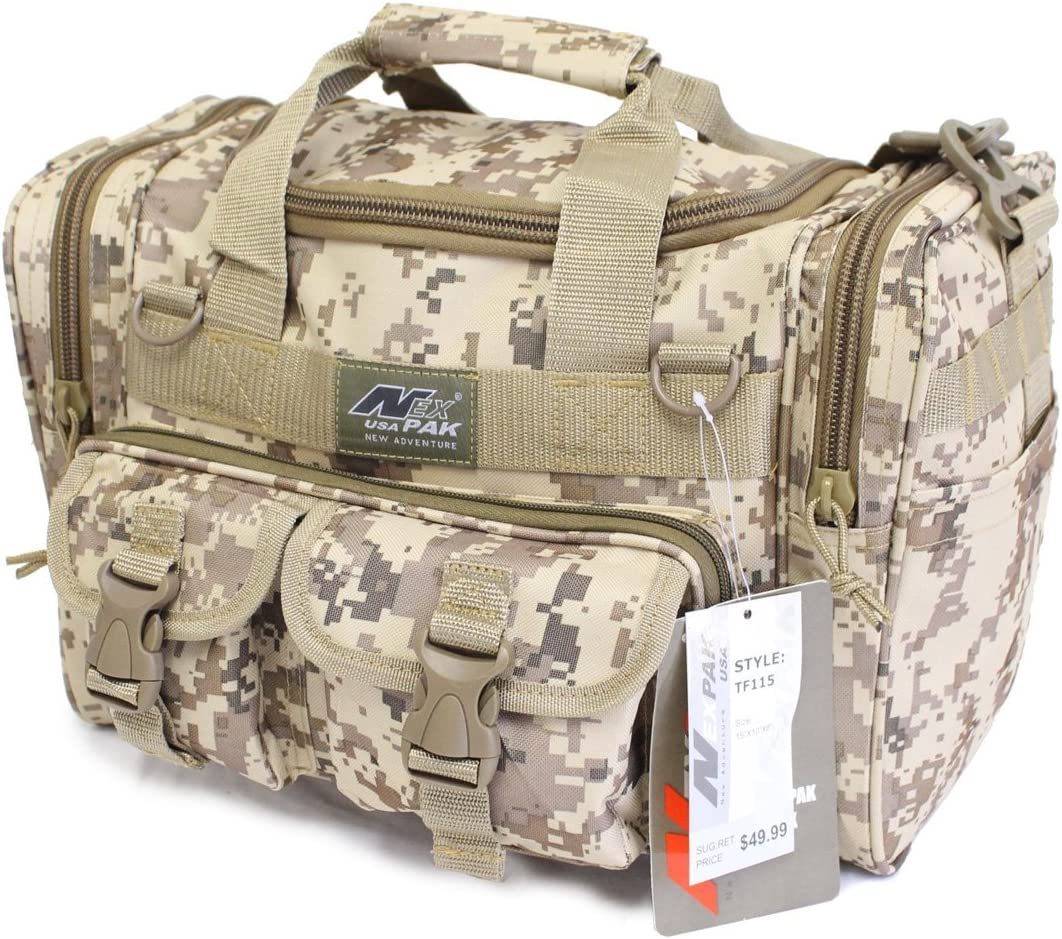 "Nexpak 15"" 1200cu.in Tactical Duffel Range Bag TF115 DMTAN Digital Camo TAN"