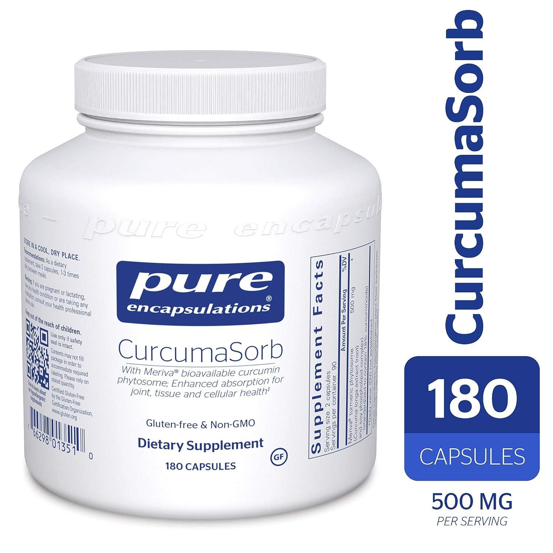 Pure Encapsulations – CurcumaSorb – with Meriva Bioavailable Curcumin Phytosome – 180 Capsules