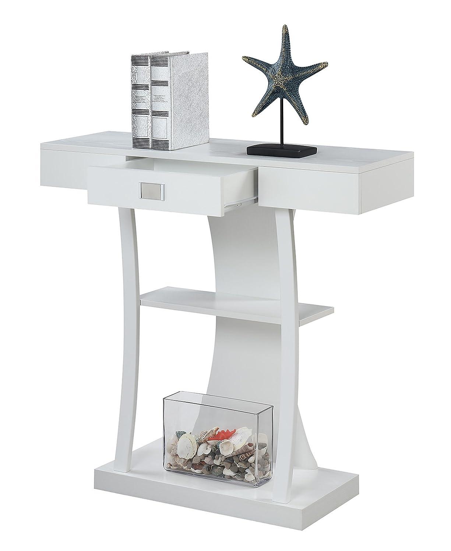 Convenience Concepts 111960W Newport Harri Console Table White