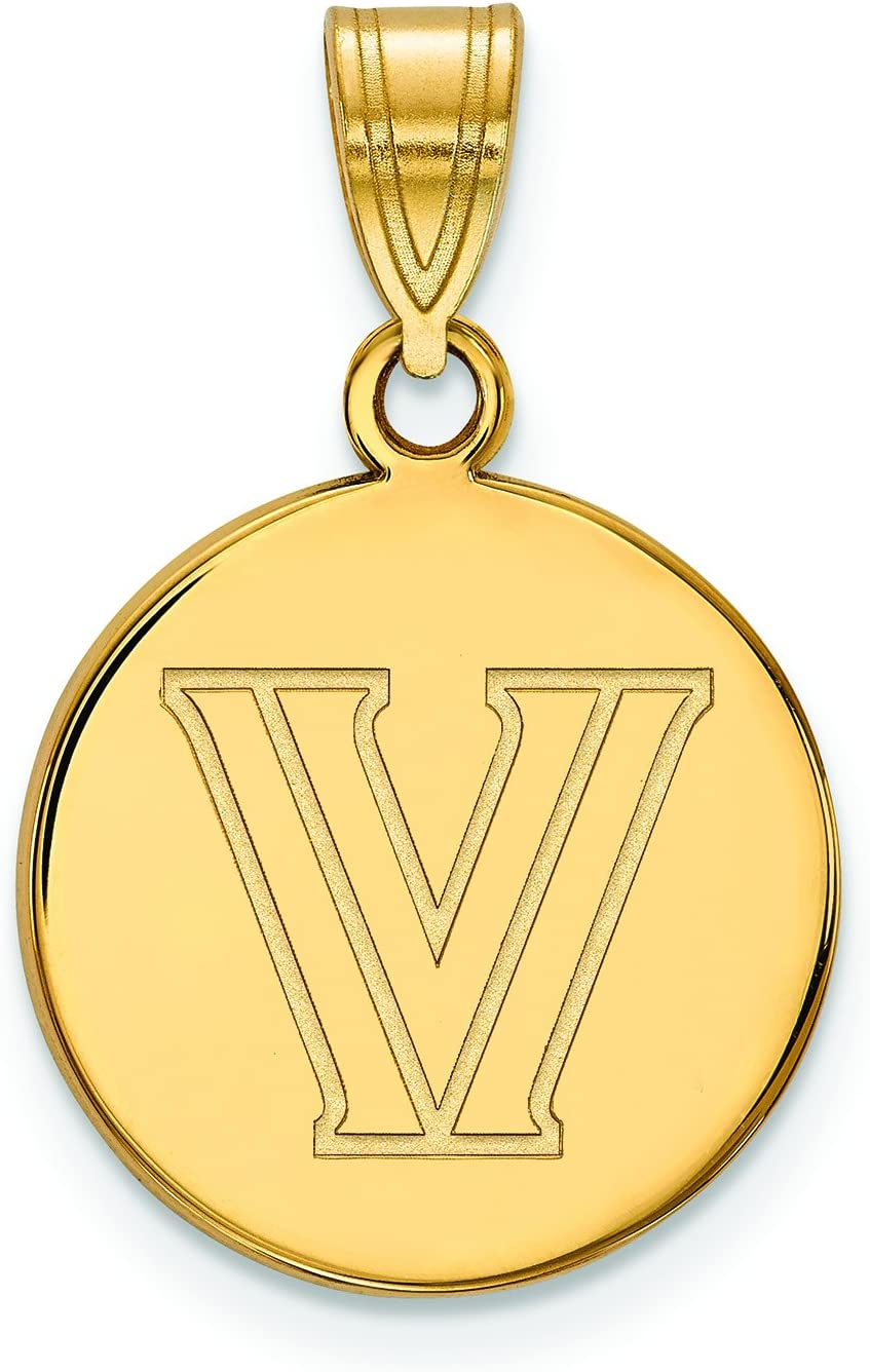 Villanova Medium (5 / 8インチ) ディスクペンダント(14 Kイエローゴールド)