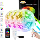 Zaecany 15M/49.2FT Led Strip Lights With Remote, Bluetooth APP, Box Controller for Bedroom, Flexible RGB Tape Lights for…